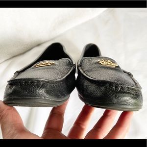 Coach Shoes - COACH Black Pebbled Leather Opal Loafers Shoes 8